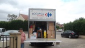 LM carrefour truck moving out jul12