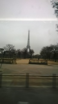 passing Eiffel tower from ecole militaire