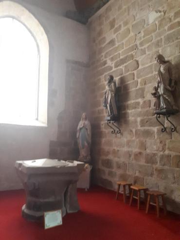 la trinite porhoet ch abbey de la Trinité baptismal font sep20
