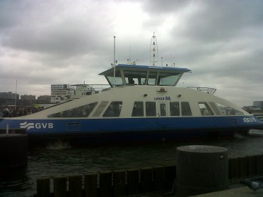 ams GVB ferry at port behind centraal apr13