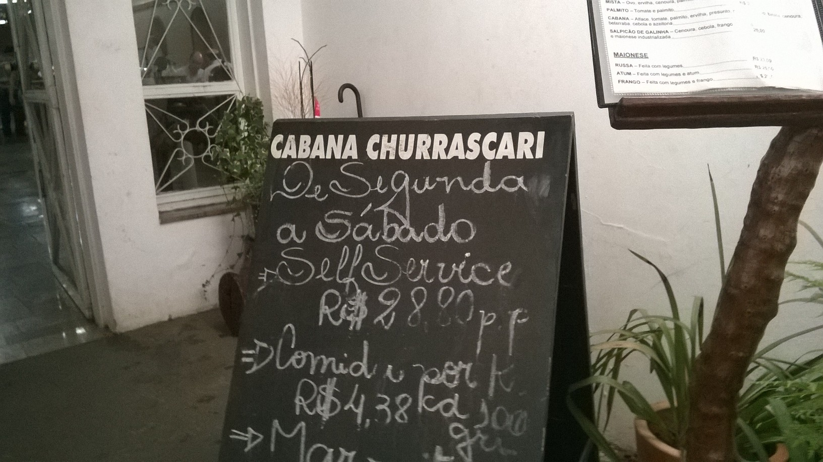 descalvado churrasqueria cabana menu out nov15