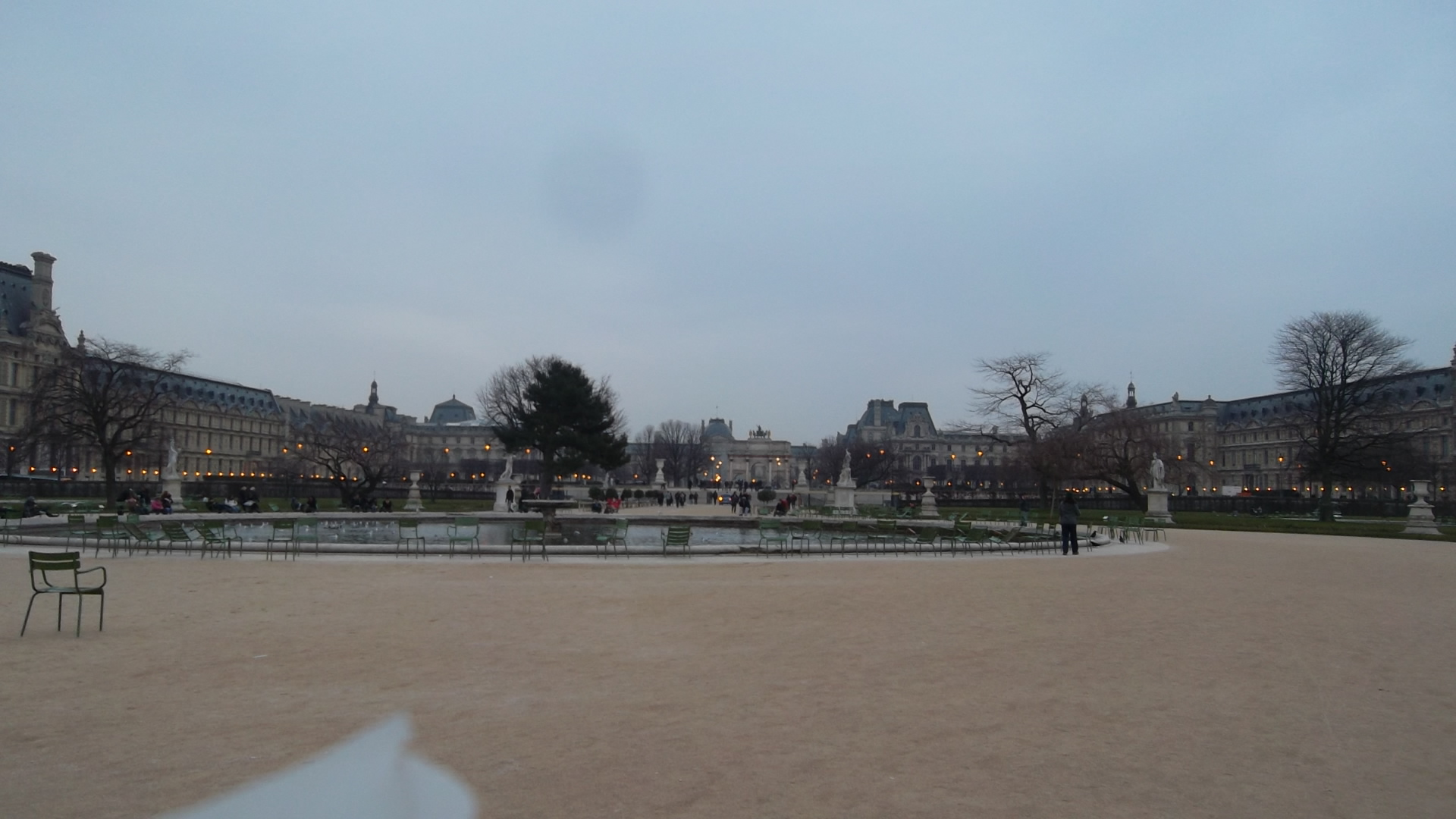 paris louvre musee from tuileries gardens mar13