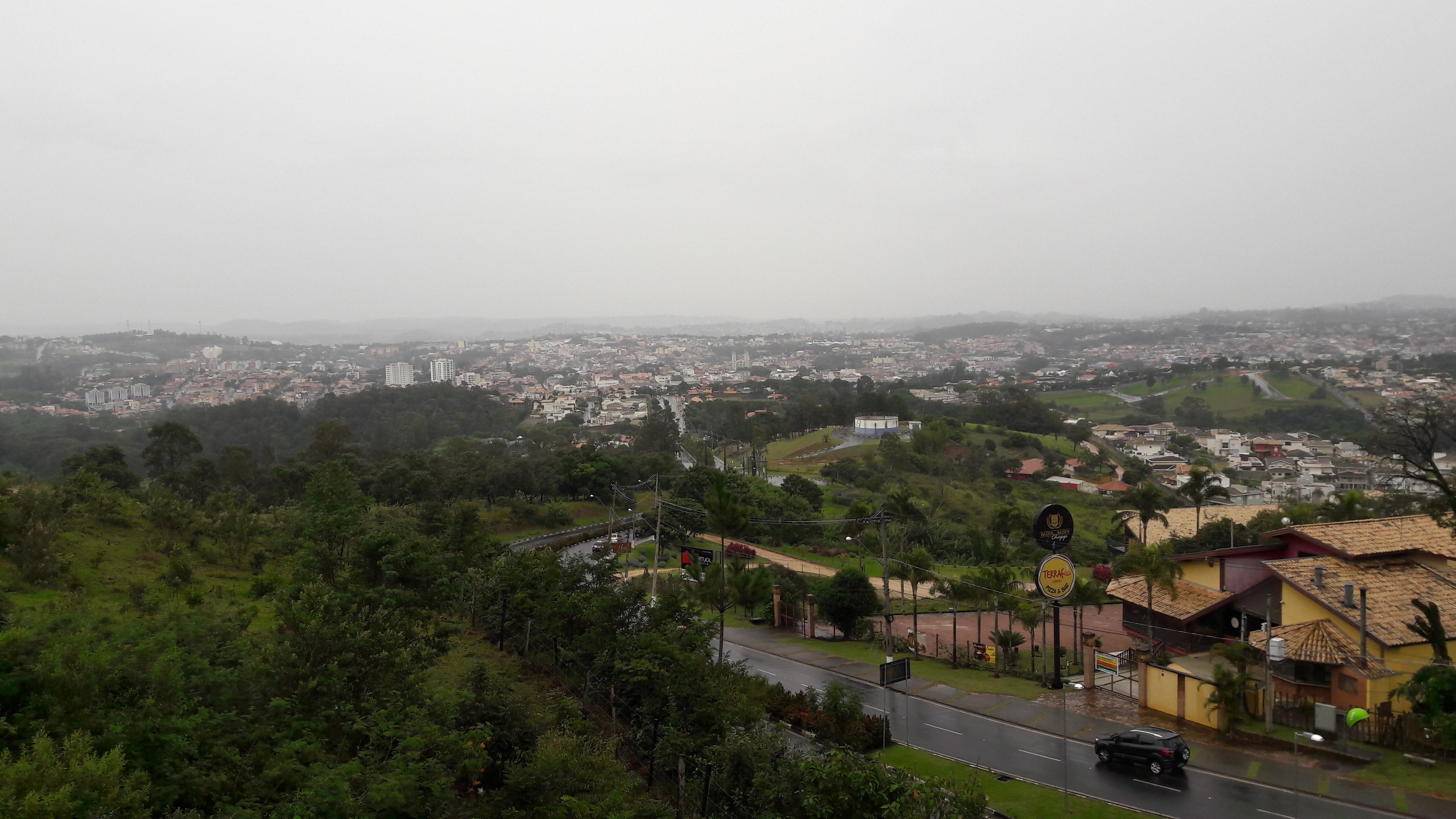 Vinhedo SP mirador view of city may17