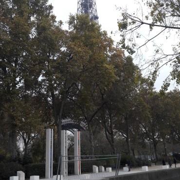 paris tour eiffel from Seine nov17