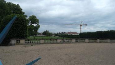 Maisons laffitte castle patio to gardens jun12
