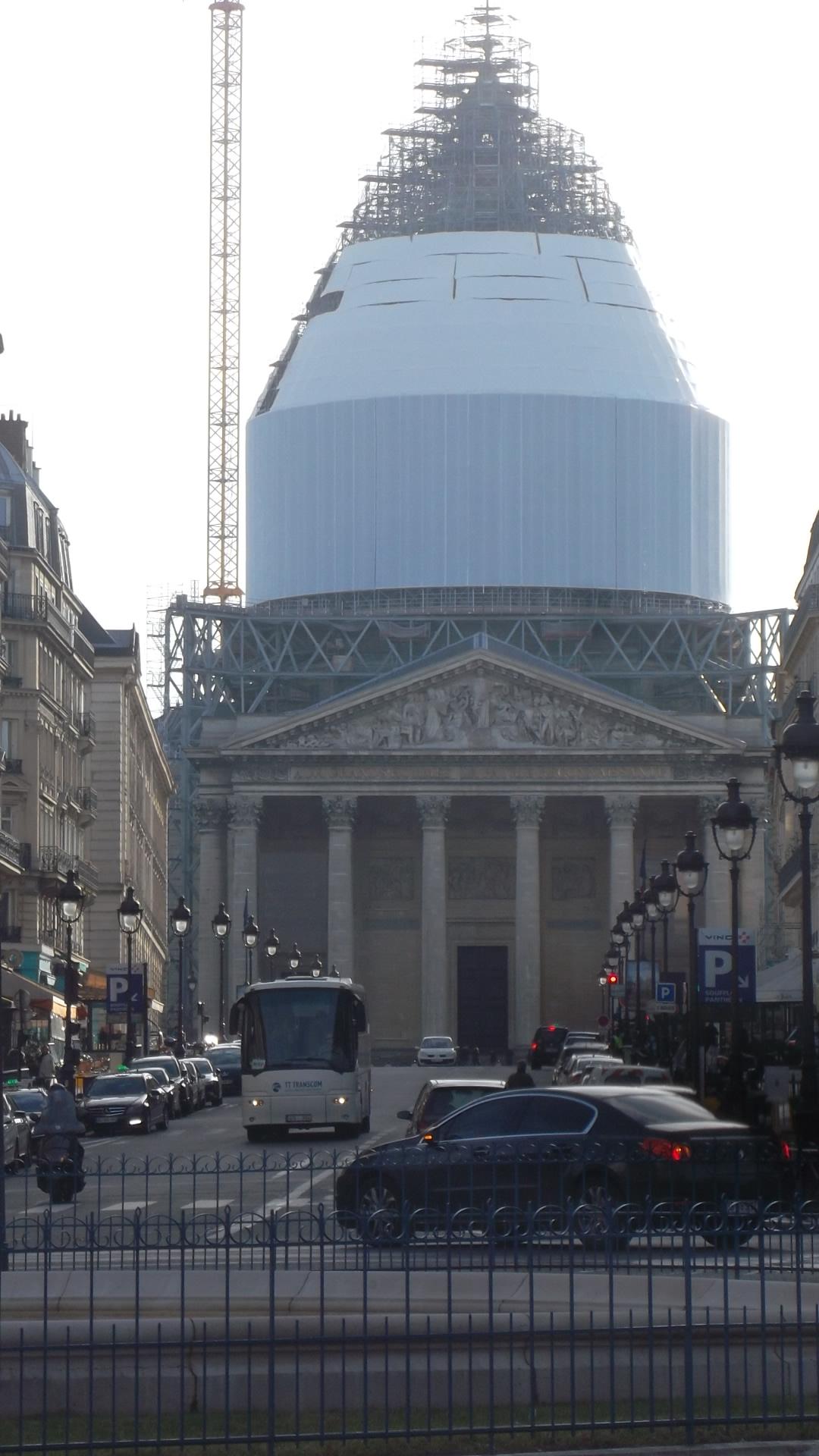 paris pantheon cupola work feb14
