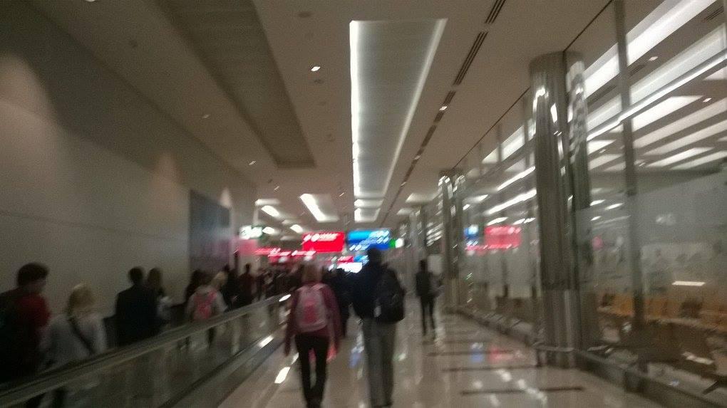 dubai UAE airport T3 arrivals