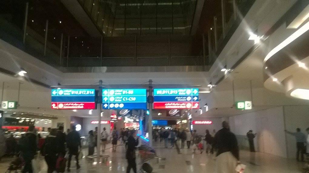 Dubai UAE airport T3 to gate C5 home