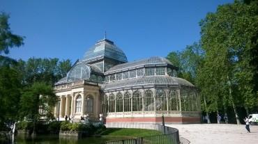 madrid retiro park palacio de cristal arriving may16