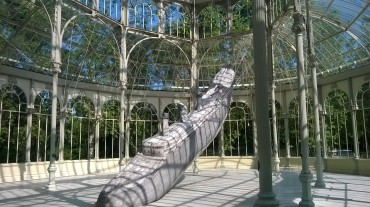 madrid retiro park palacio de cristal boat may16