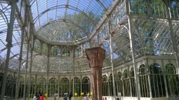 madrid retiro park palacio de cristal inside main hall may16