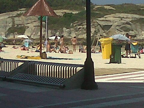 San Ciprian cafe to beach jul12