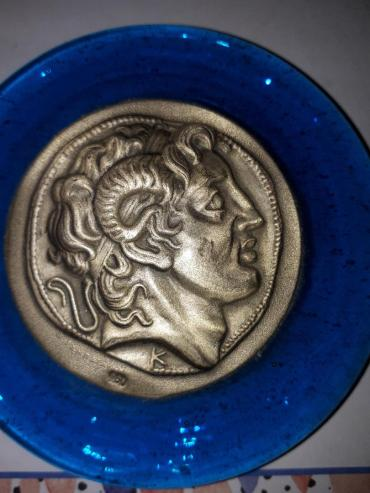 Athens greece medallion paperweight alexander great c2008