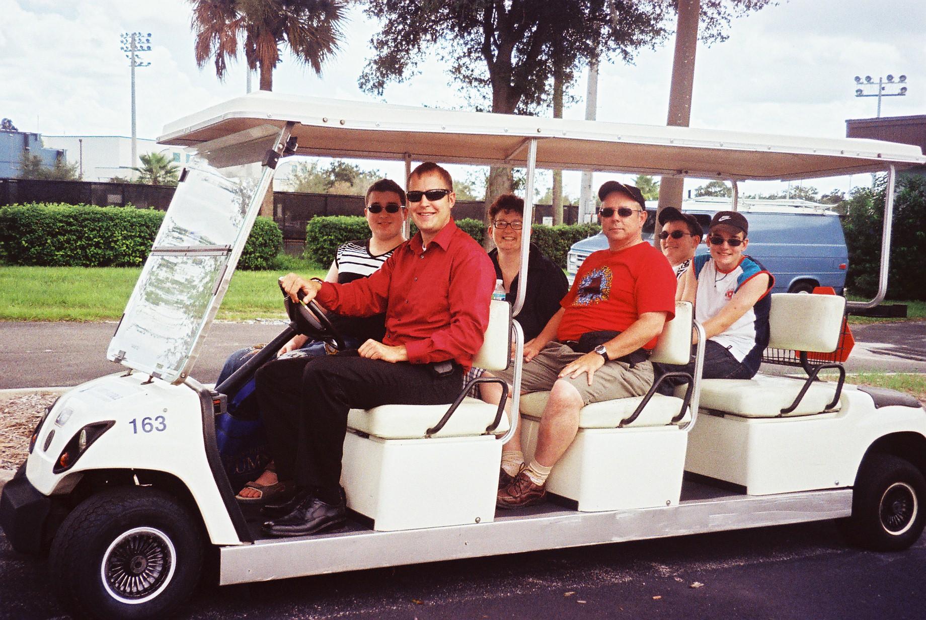 Daytona beach Chris cart tour ERAU 20aug09