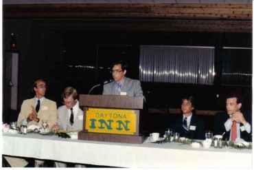 db pedro speaking mgmt club ERAU daytona inn 1981