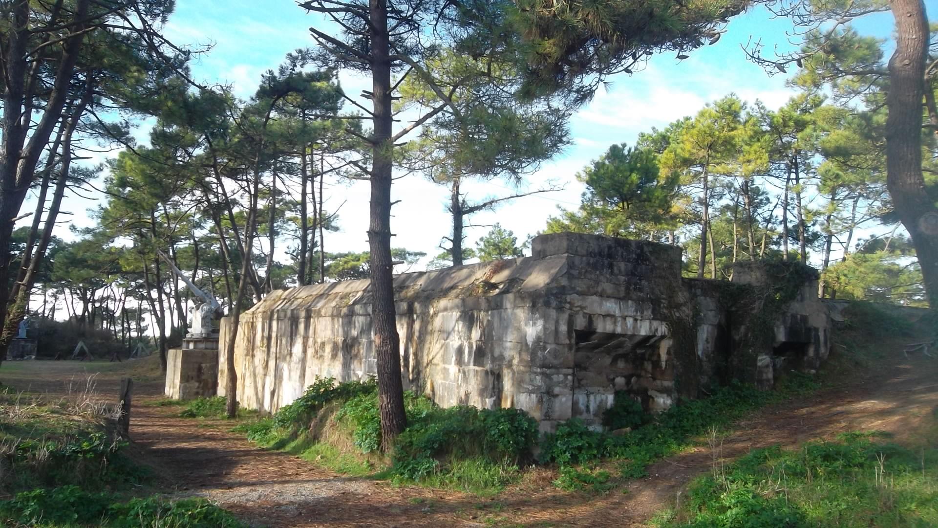 Plouharnel bunkers of WWII atlantic wall mus jan14