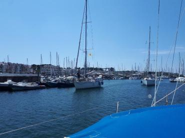 Port du Crouesty blue lagoon boat out marina to gulf jul21