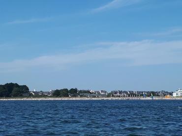 Port du Crouesty blue lagoon boat to fogeo beach sailing club jul21