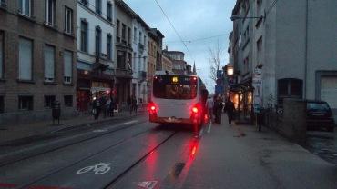 Brussels bus 65 et 66 Schaerbeek stop jan13