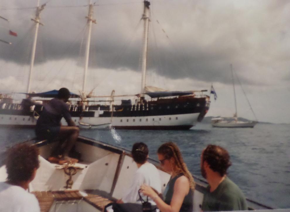 tortola BVI going ashore from fantome 1988