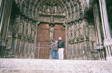 Chartres Cathedral ND cloister door RF PF c. 2007