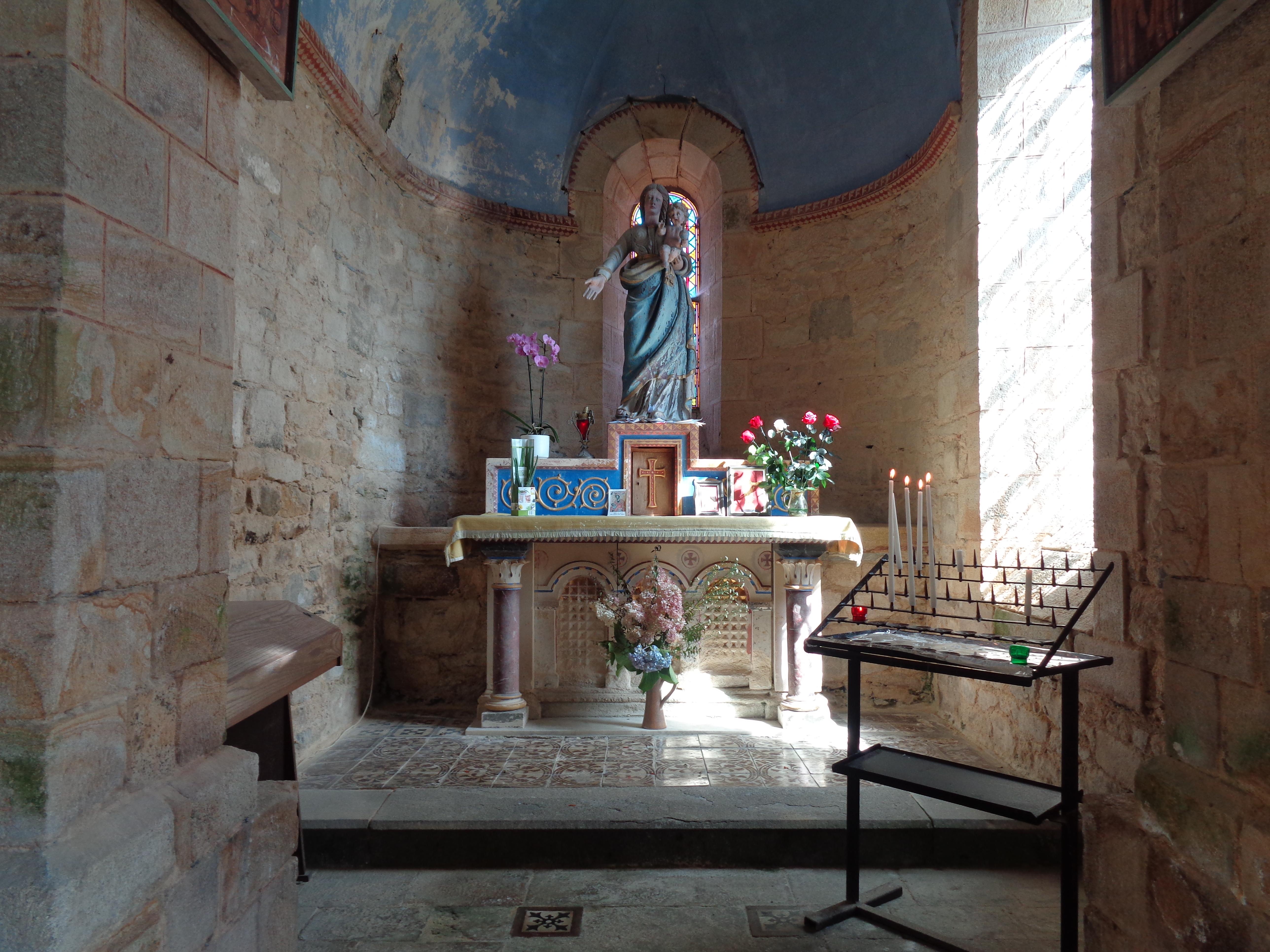 Daoulas abbaye ch ND chapel virgin et child sep21