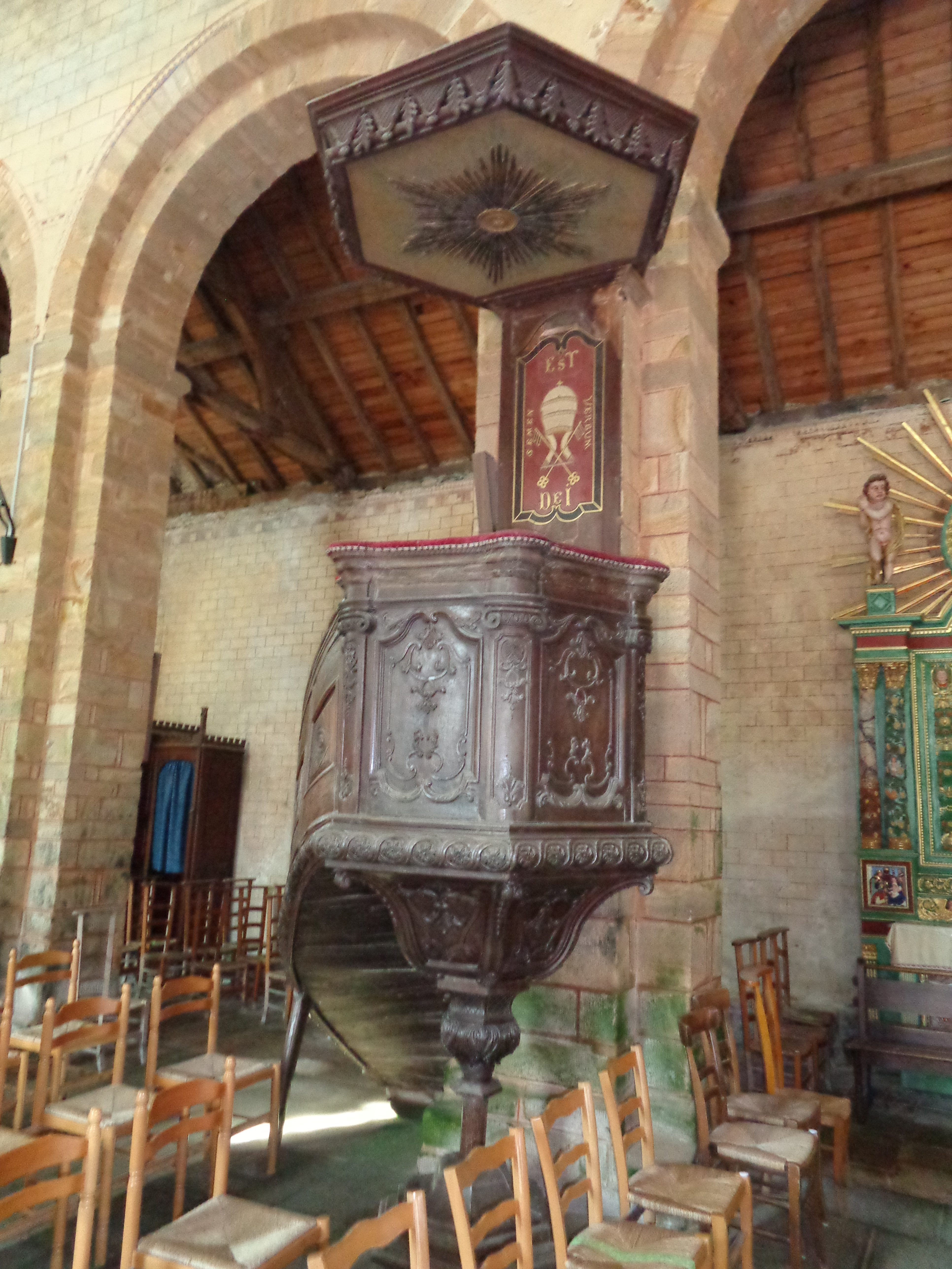Daoulas abbaye ch ND pulpit sep21