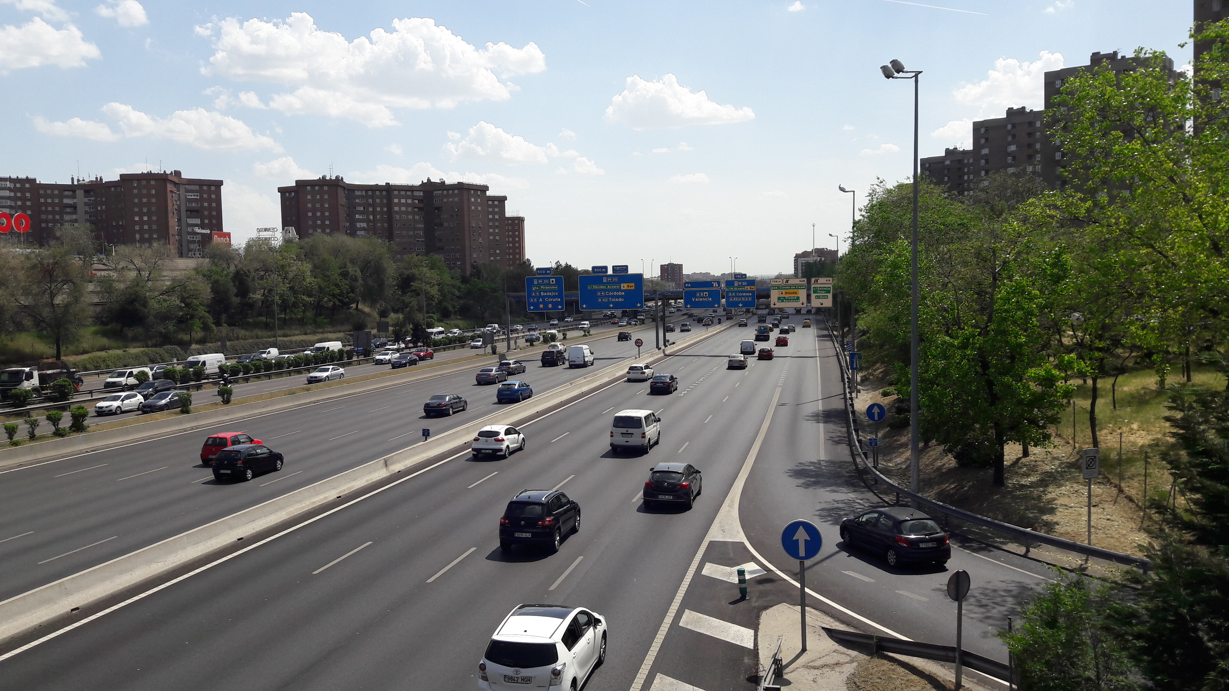madrid M30 from calle pez volador pasarela to madrid apr17
