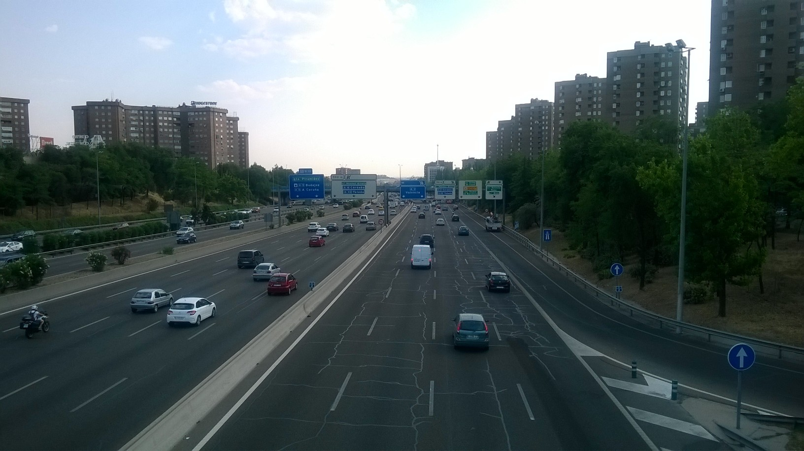 madrid M30 passarelle out city valencia on A3 aug16