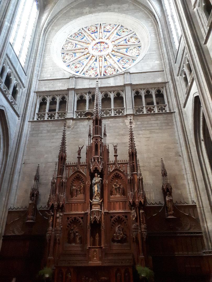 orleans cat ste croix retable chapelle virgin et child and rosary sep21