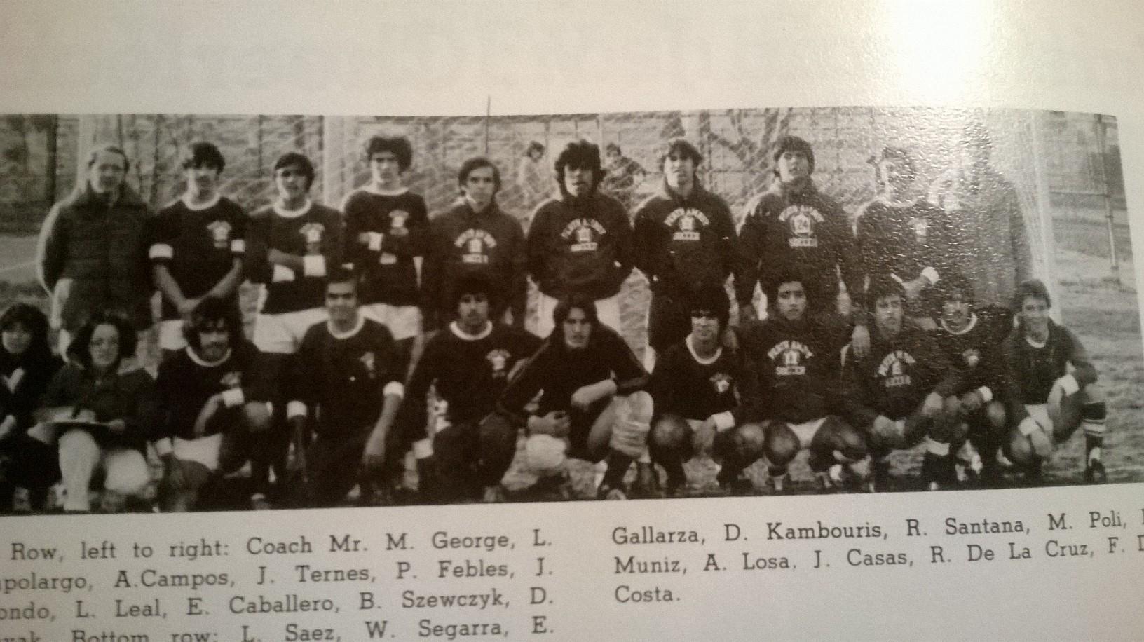 perth amboy soccer team yearbook photo 1977