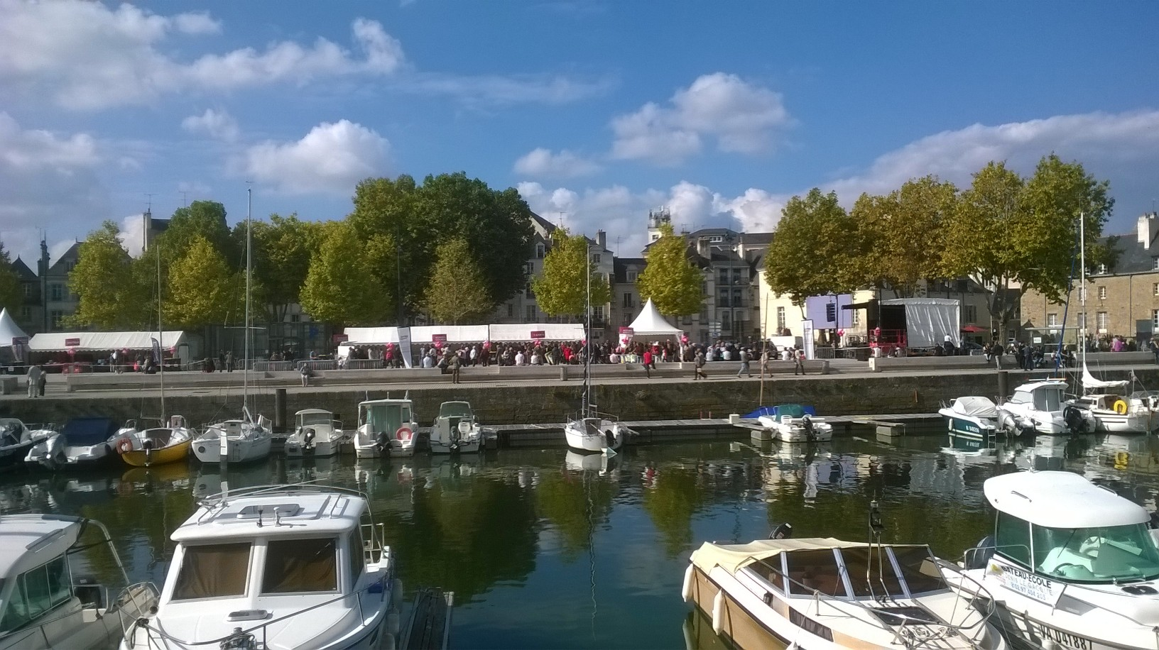 vannes canal le port from parking to event oct16